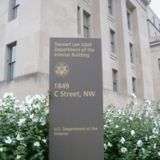 Sign for Udall Department of Interior Building - Washington DC
