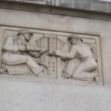 """Chaim Gross relief, """"Construction"""",Federal Trade Commission Building - Washington DC"""