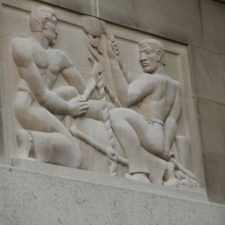 """Robert Laurent relief, """"Shipping"""",Federal Trade Commission Building - Washington DC"""