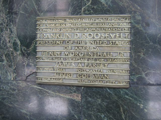 Madison Square Post Office Plaque