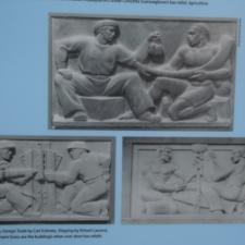 Panel describing sculptures,Federal Trade Commission Building - Washington DC