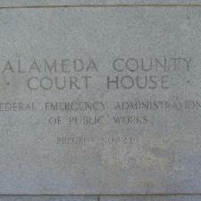 Alameda County Courthouse PWA Plaque
