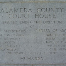 Alameda County Courthouse Plaque