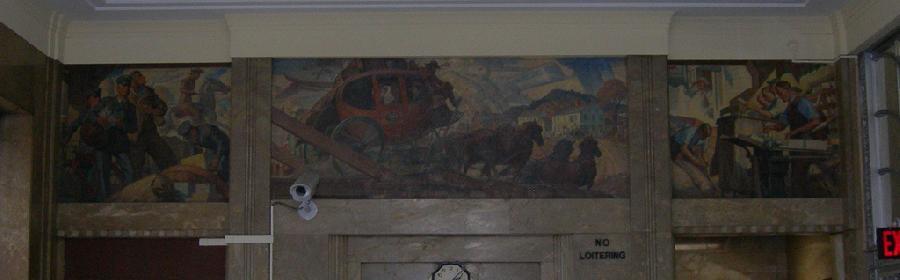 Bridgeport Post Office Robert Lambdin Mural
