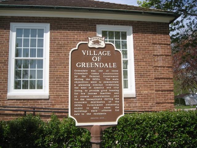 Village of Greendale History Sign