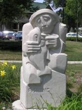 "Parklawn Housing Development ""Fishing"" Sculpture"
