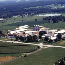 Aerial of Wallace Agricultural Research Center, view from the east - Beltsville MD