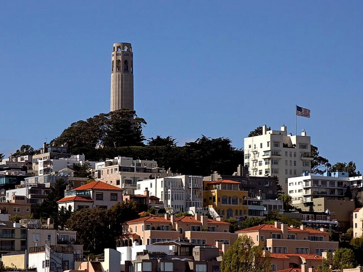 Coit Tower on Telegraph Hill - San Francisco, CA