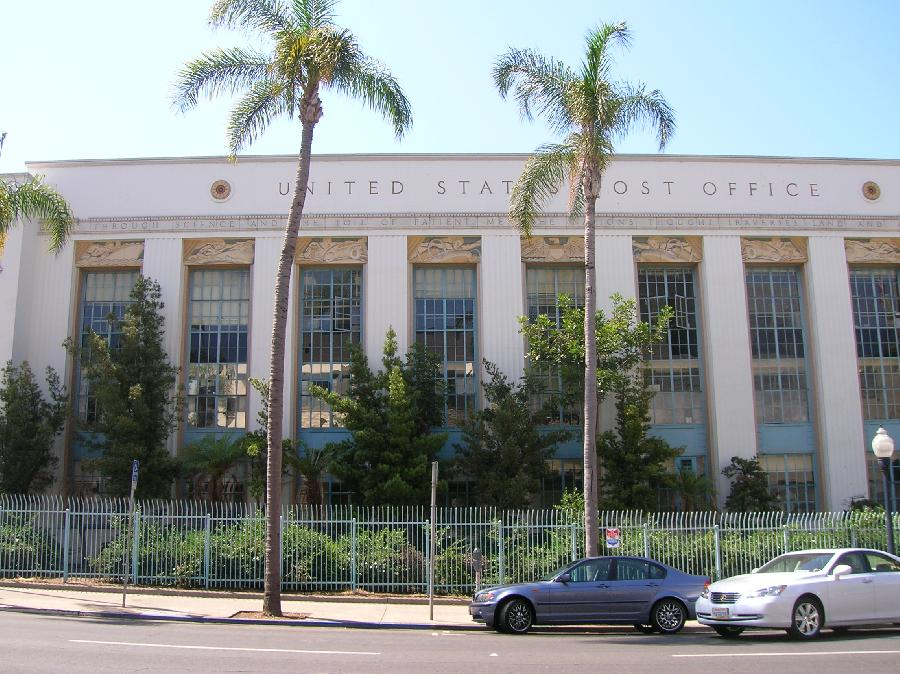 Downtown Station Post Office San Diego Ca Living New Deal