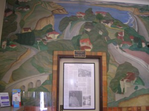 """Scenic View of the Village"" Post Office Mural by Edward Biberman La Jolla, California"