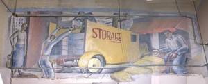 "Hardy Memorial Tower Mural ""NRA Packages"""
