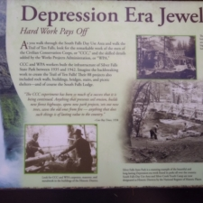 Informational sign at Silver Falls State Park - Silverton OR