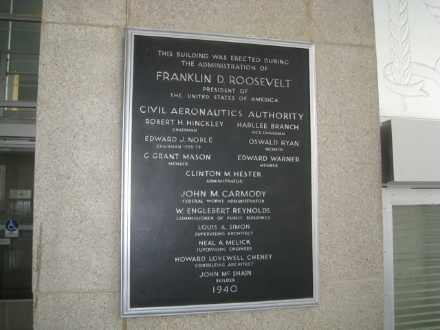 Reagan National Airport Federal Plaque