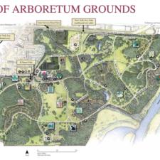 Map of National Arboretum - Washington DC