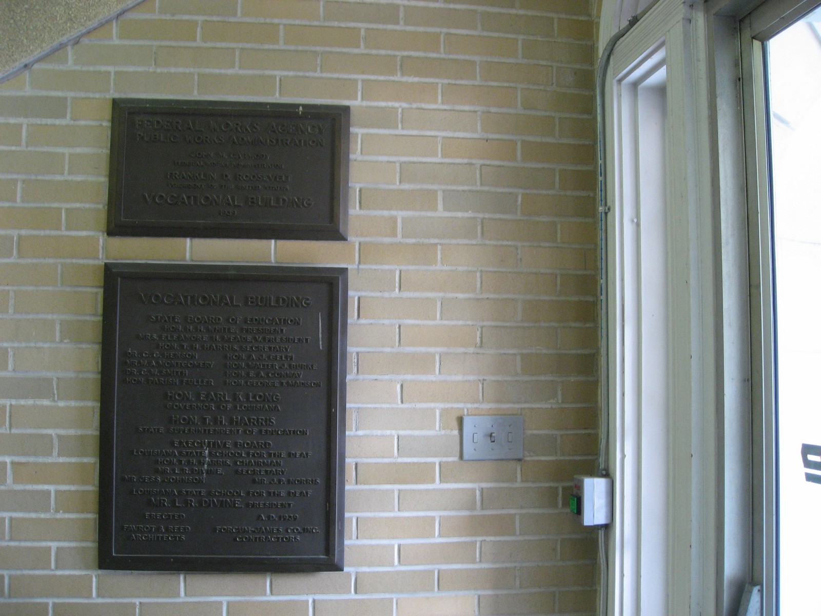 Baton Rouge Police Department Lobby Plaques