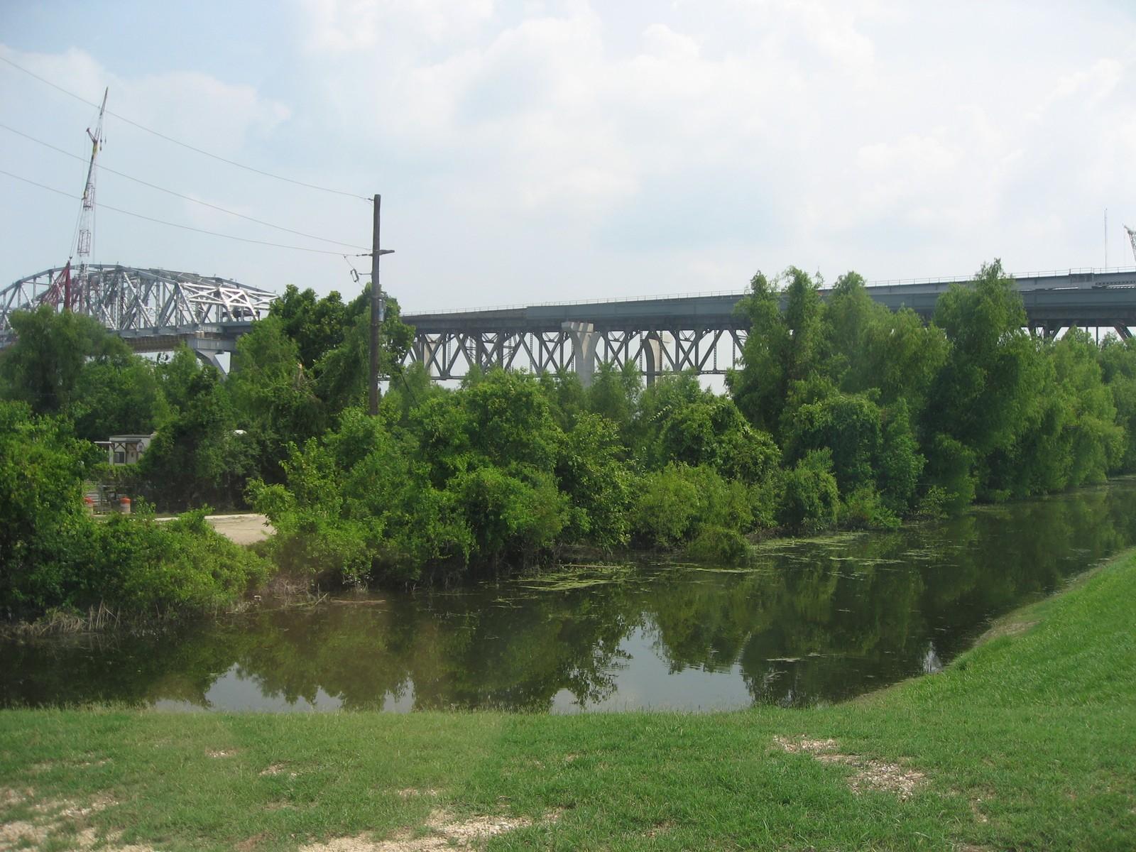 Huey P. Long Bridge from the River Bank