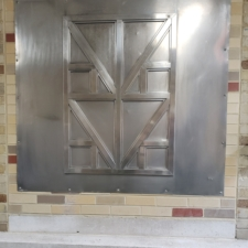 Aluminum plate in the Laboratory Building
