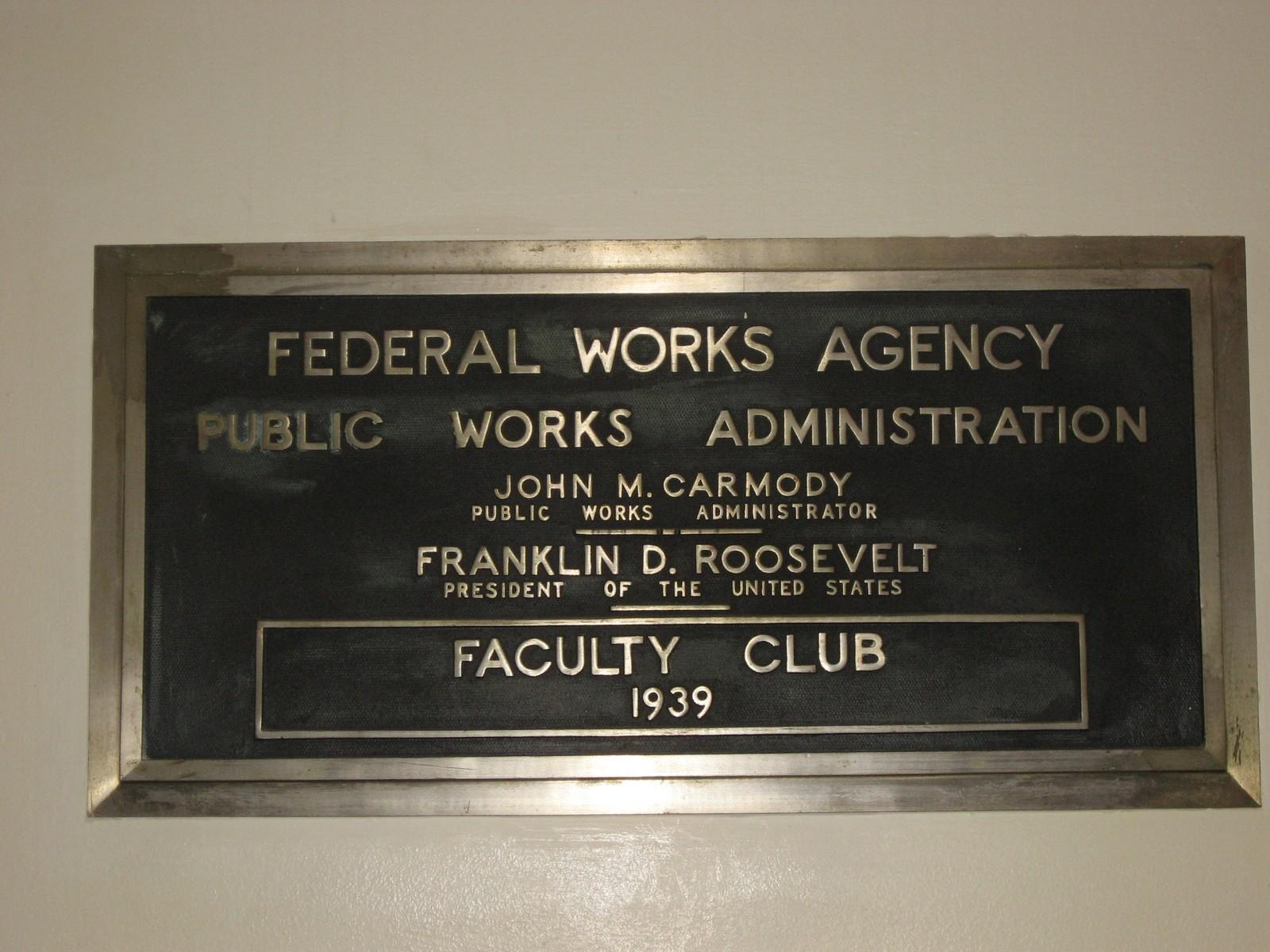 LSU Faculty Club PWA Plaque