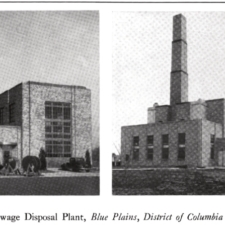 Pumping station (left) and power station, ca. 1938