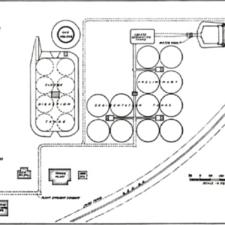 An overview diagram of Blue Plains, ca. 1938