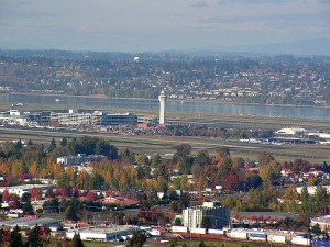 Portland International Airport Seen From Rocky Butte