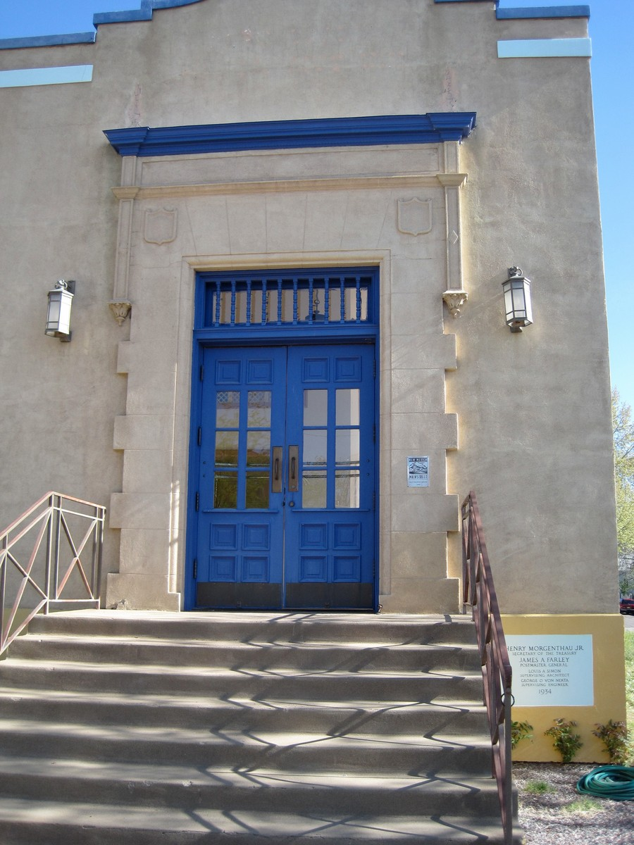 Silver City Post Office Entrance