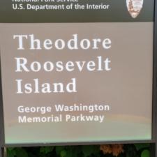 Entry sign to Theodore Roosevelt Island - Washington DC