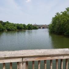 View from footbridge to Theodore Roosevelt Island - Washington DC