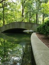 Bridge to memorial on Theodore Roosevelt Island