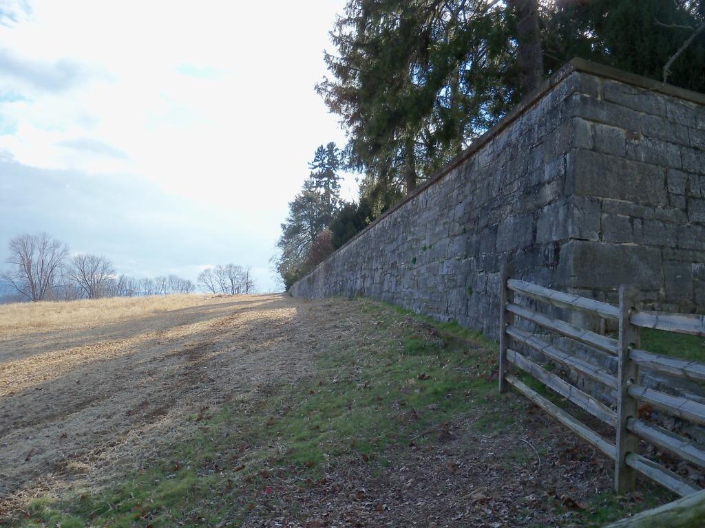 Antietam National Cemetery Wall Today