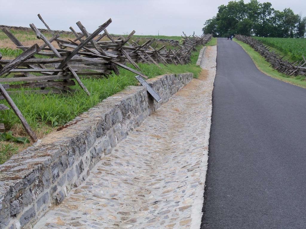 Antietam National Battlefield Rock Retaining Wall and Gutter