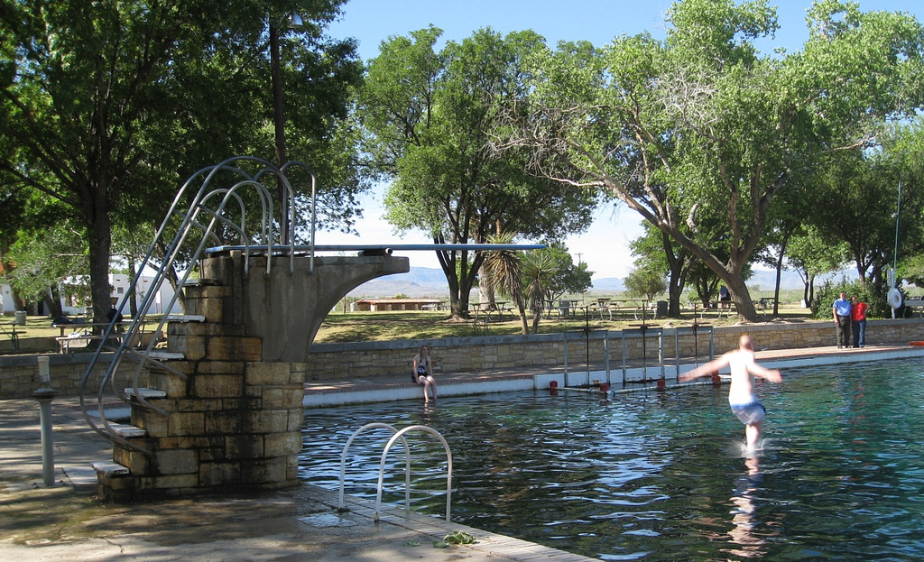 Balmorhea State Park CCC Pool with Diving Board
