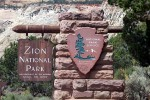 Zion National Park East Entrance Sign