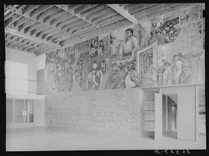 Mural painted by Ben Shahn at the community building. Hightstown, New Jersey.