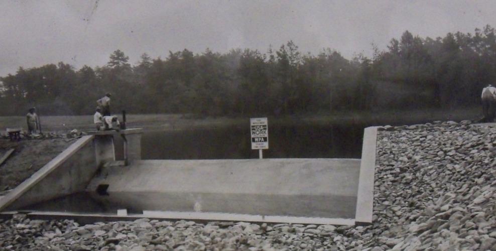 Filling Chambers Dam and Lake