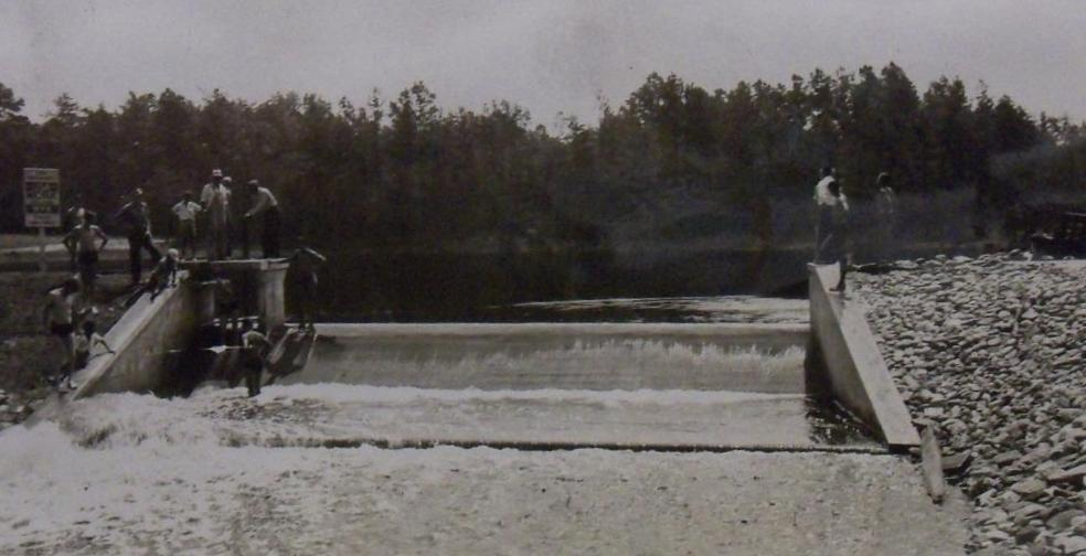 Chambers Dam and Lake Sluice Gates
