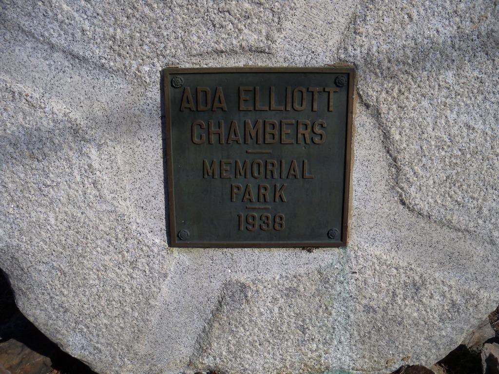 Chambers Park 1938 Memorial Plaque