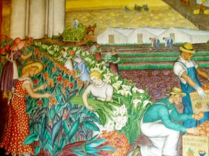 Coit Tower Mural by Maxine Albro