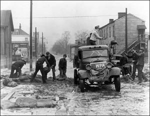 WPA flood relief, Louisville, Kentucky, 1937