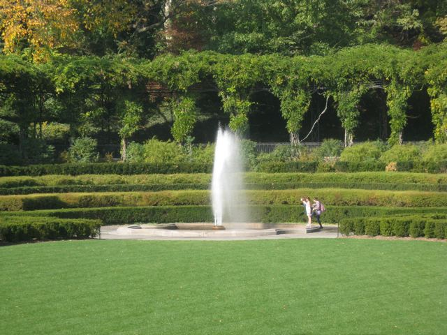 conservatory garden fountain - Central Park Conservatory Garden