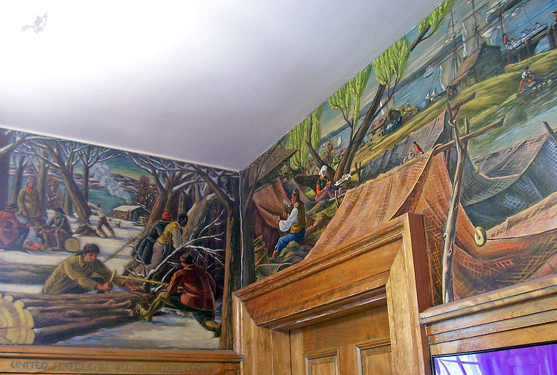 Hyde Park Post Office Murals