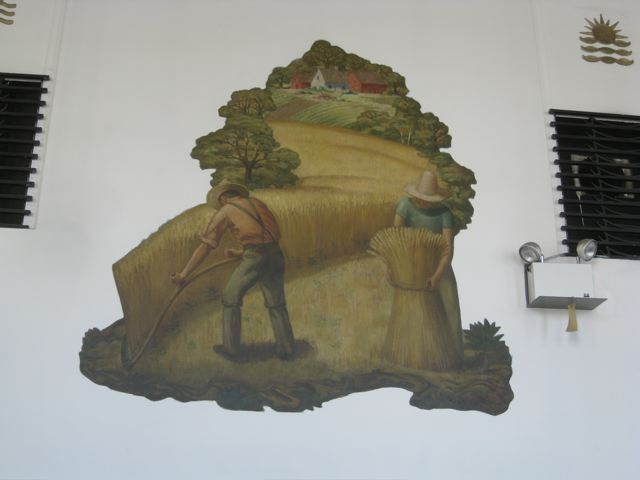 Victor White mural depicting the harvest