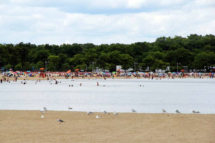 The North Part Of Orchard Beach As Seen From South