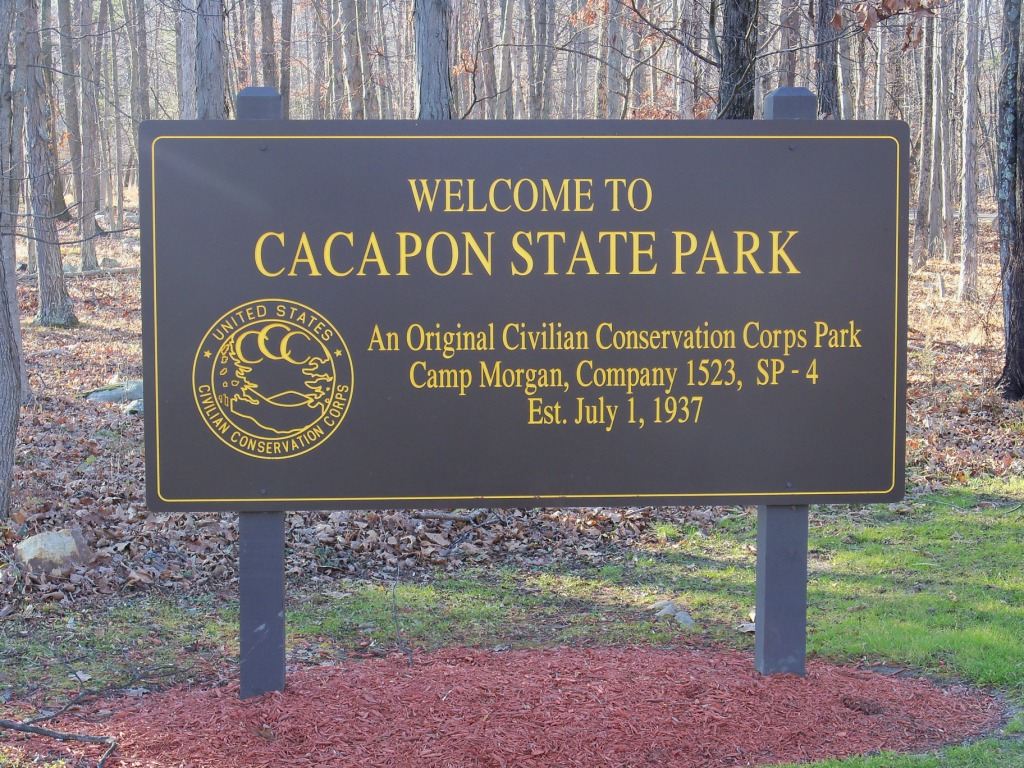 Cacapon State Park CCC Sign