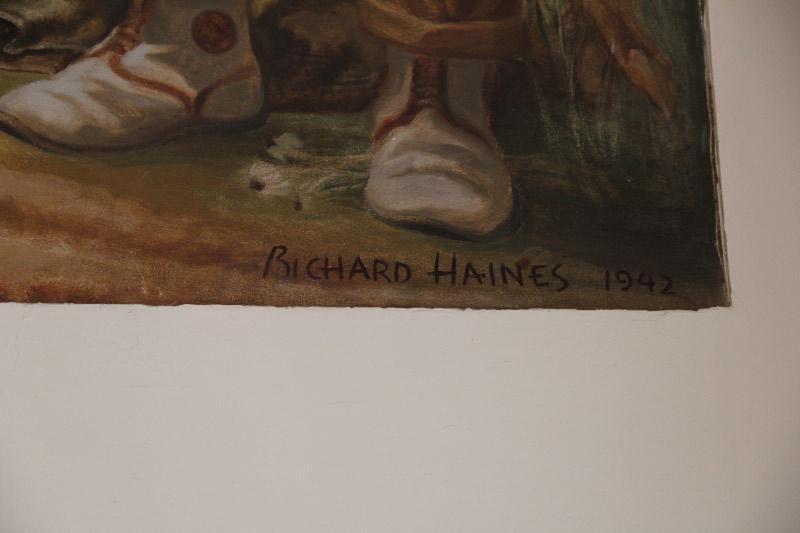 """Coon Hunt"" Artist's Signature"