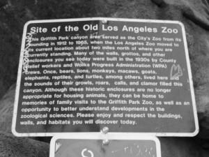 Old LA Zoo Sign
