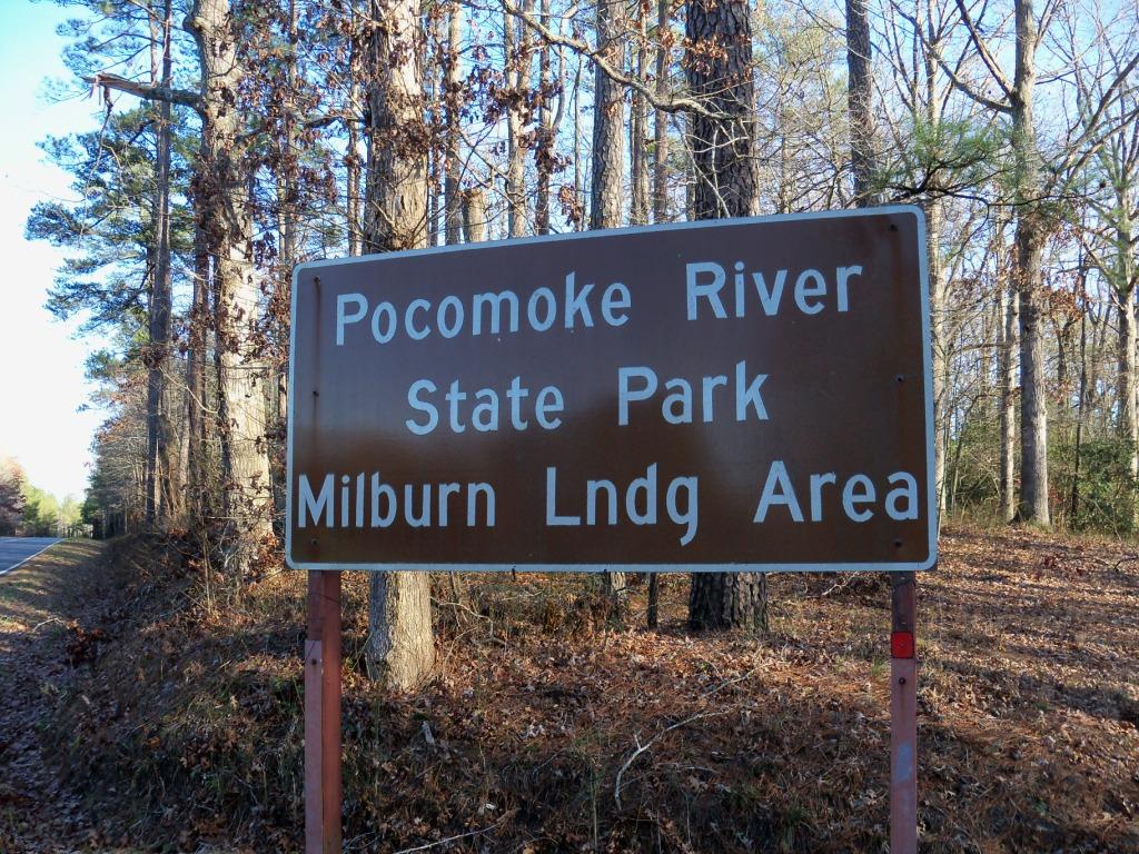 Pocomoke River State Park Sign