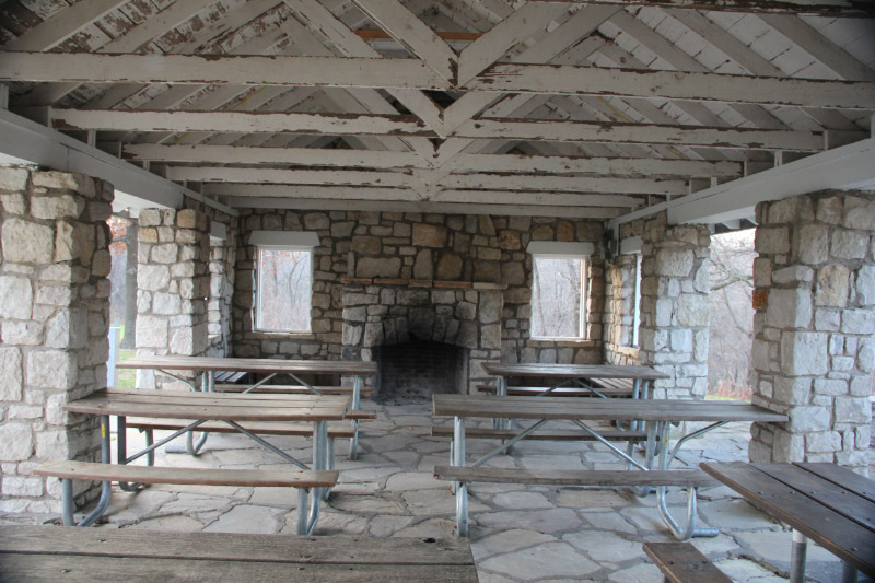 Arrow Rock State Park Picnic Shelter Interior