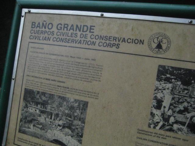 El Baño Grande CCC Pool Information Sign