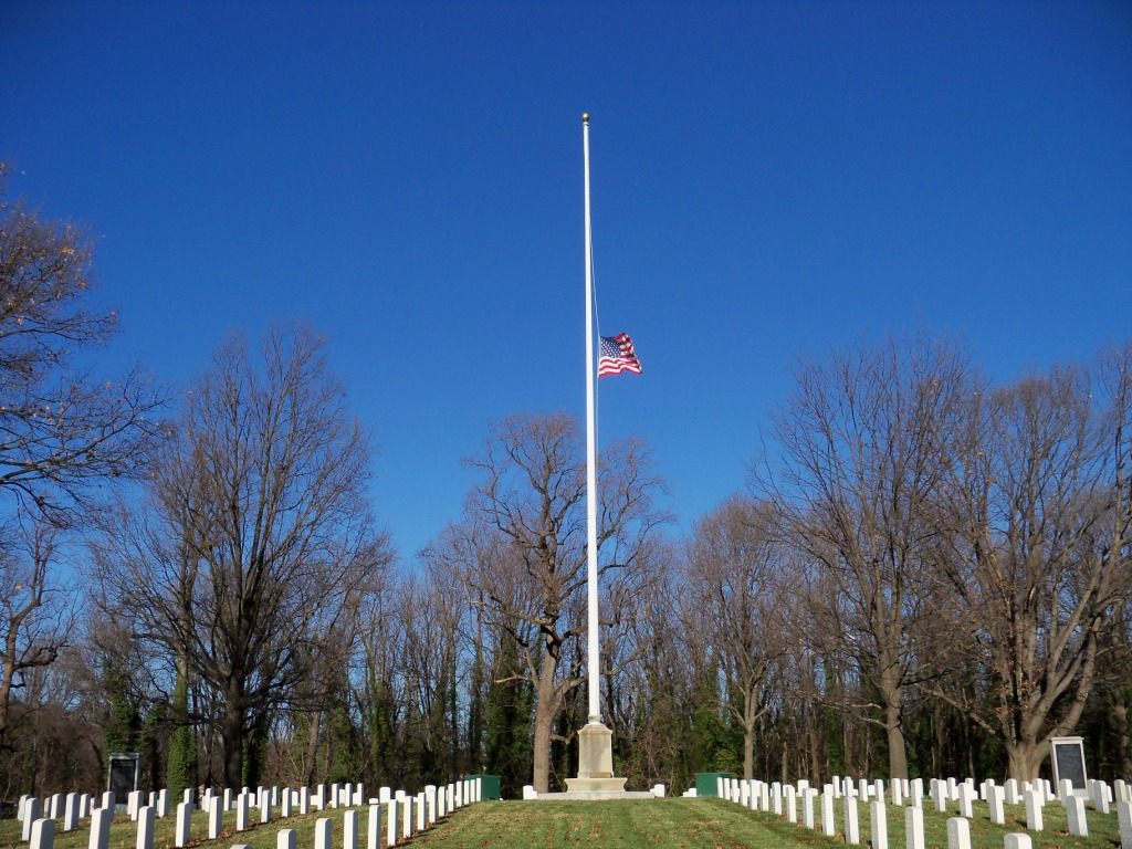 Flagpole at Baltimore National Cemetery